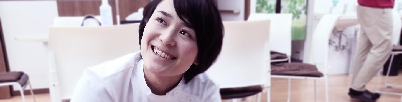 阿部さんの笑顔の写真