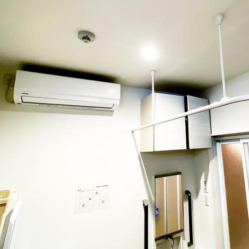 ヒートショック対策のエアコン完備